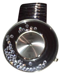 Cardini FUN STAINLESS STEEL FLOATING RHINESTONES AROUND FACE WATCH