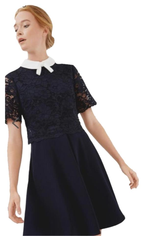 0a7252883 Ted Baker Navy Dixxy Layered Above Knee Night Out Dress Size 2 (XS ...