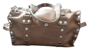 Hammitt Studded Satchel in tan and gold