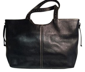 Alfani Tote in Black Leather