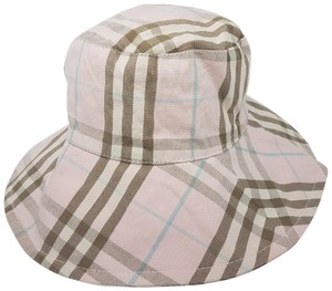 Burberry Beige, pink Burberry Nova Check monogram plaid hat M Medium