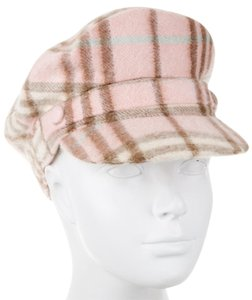Burberry Beige, pink Burberry Nova Check plaid cashmere hat M Medium