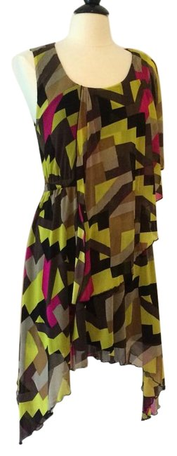 Preload https://item1.tradesy.com/images/bcbgmaxazria-pink-lime-brown-above-knee-short-casual-dress-size-8-m-18972010-0-1.jpg?width=400&height=650
