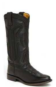 Frye Wylie Stitched Western Black Boots