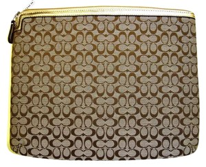 Coach Coach Ipad/Tablet Sleeve Khaki New with Tags