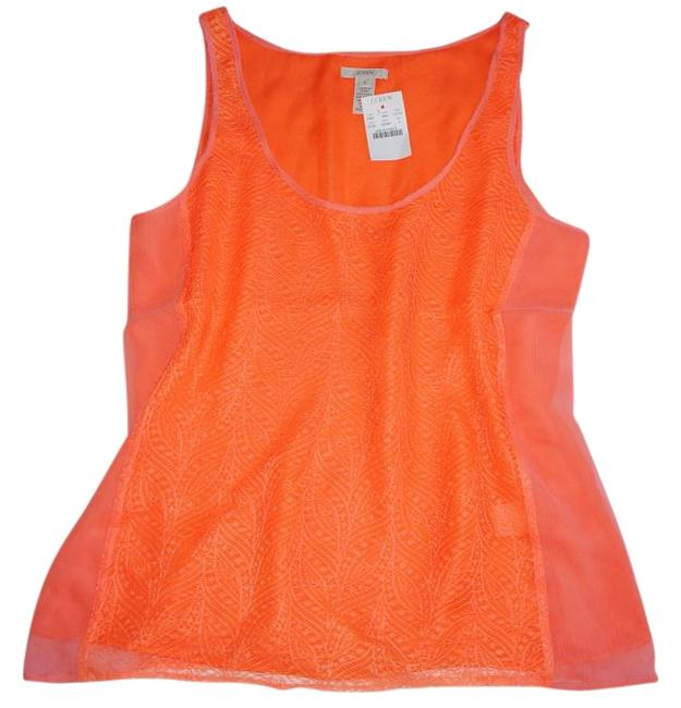 Preload https://img-static.tradesy.com/item/18973861/jcrew-neon-orange-lace-love-tank-in-tee-shirt-size-4-s-0-1-650-650.jpg