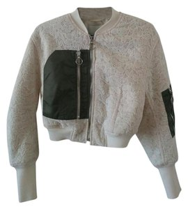 3.1 Phillip Lim Lace Bomber Military Jacket