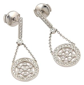 Tiffany & Co. Tiffany & Co. Voile Platinum Diamond Dangle Drop Earrings - 13488-L