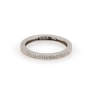 Monte Carlo Solid 9k White Gold Band