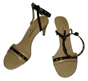 Chanel BLACK & TAN Sandals