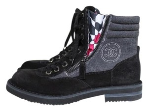 Chanel Hiking black Boots