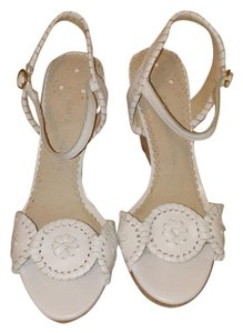 Jack Rogers Leather White Wedges