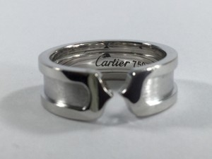 Cartier ,Cartier,18k,White,Gold,6.5mm,Double,C,Band,Ring,