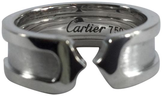 Preload https://item4.tradesy.com/images/cartier-18k-white-gold-65mm-double-c-band-ring-1897568-0-3.jpg?width=440&height=440