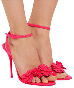Sophia Webster Fluoro Pink Sandals