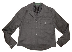 Harvé Benard 100% Wool Thin Light Charcoal Gray Jacket