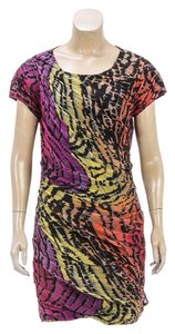 Diane von Furstenberg short dress Pink/Multicolor on Tradesy