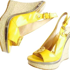 Michael Kors Yellow Wedges