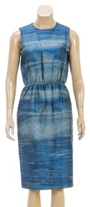 Aquascutum short dress Blue/Multicolor on Tradesy