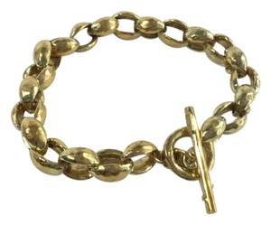 Ippolita Ippolita 18kt Yellow Gold Hammered Link Toggle Bracelet