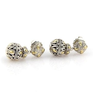 John Hardy John,Hardy,Sterling,18k,Yg,Batu,Sari,Balls,Dangle,Drop,Earrings