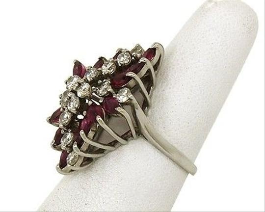 Other Estate,14k,Gold,5.40ct,Diamonds,Rubies,Ladies,Dress,Cocktail,Ring