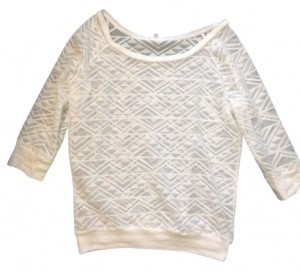 Preload https://item4.tradesy.com/images/charlotte-russe-white-w-triangle-design-sweaterpullover-size-4-s-18978-0-0.jpg?width=400&height=650