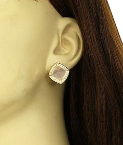 ,Valente,Italian,Signed,18k,Diamonds,Quartz,Earrings-,