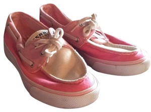 Sperry Pink an white Flats