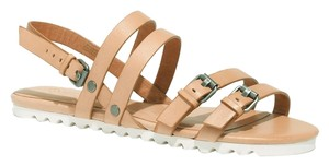 Madewell Leather Clemente Nude Sandals