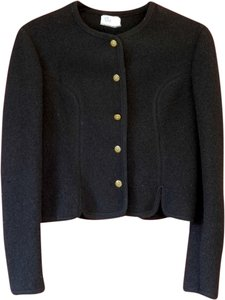 Boos Classic Wool Austrian Wool Gold Buttons Black Jacket