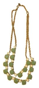 Ann Taylor LOFT Mint and gold necklace