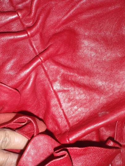 Vince Camuto Leather Hand Shoulder Weekend Tote in Red