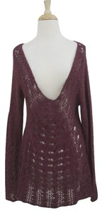 Free People Tunic Crochet Bell Sleeve Long Lacy Sweater