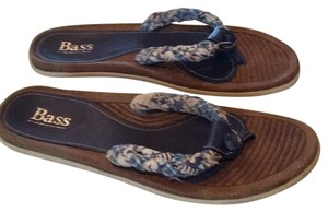 Bass Blue with differnt colors in the braid Sandals