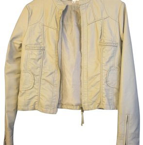 Max Studio Tan Leather Jacket