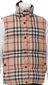 Burberry Nova Check Plaid Monogram Vest
