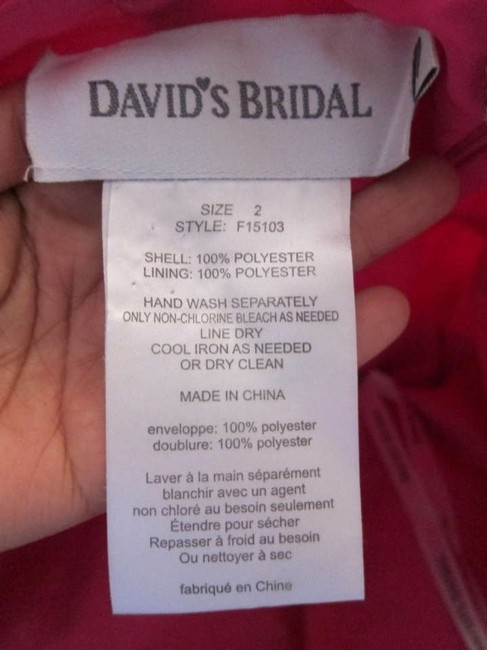 David's Bridal Knee Length Millennial Dress