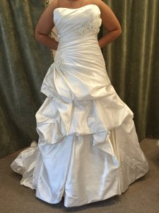 Maggie Sottero Alabaster Satin Talese Traditional Wedding Dress Size 16 (XL, Plus 0x)