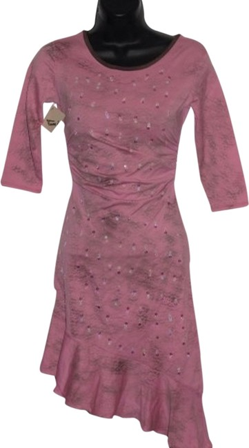 Tina Neumann short dress pink on Tradesy