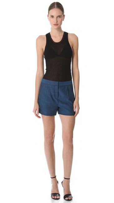 T by Alexander Wang Sleeveless Modal Cashmere Top Black