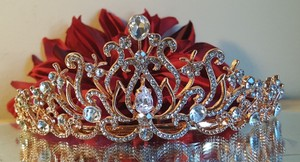 Gorgeous Bridal Rose Gold Plated Tiara