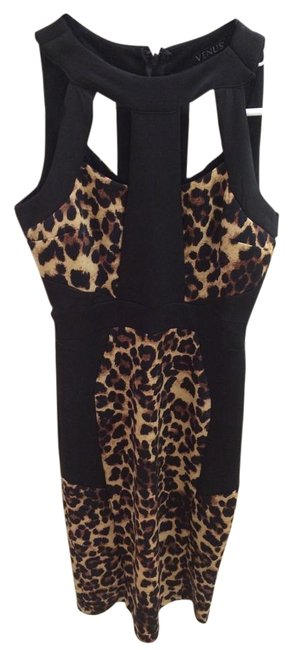 Preload https://item4.tradesy.com/images/venus-leopard-and-black-long-night-out-dress-size-2-xs-18981853-0-1.jpg?width=400&height=650