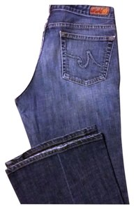 AG Adriano Goldschmied Zip Fly Cotton/spandex Flare Leg Jeans-Medium Wash