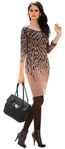 VENUS short dress Leopard on Tradesy