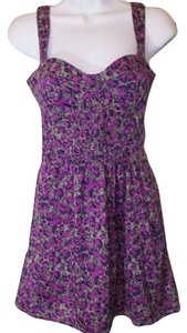 Free People short dress Purple and Grey on Tradesy