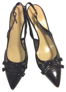 Kate Spade Bow Slingback Patent Leather Black Pumps