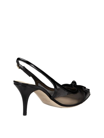 Kate Spade Bow Slingback Patent Leather Mesh Pointed Toe Black Pumps