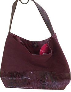 Uptown Tote Tote in Burgandy and snake skin
