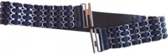 Preload https://item1.tradesy.com/images/black-and-metal-stretch-size-sm-belt-189825-0-0.jpg?width=440&height=440
